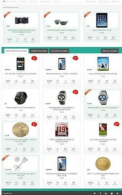Professional 'online Auction' Website Business For Sale! Mobile Responsive Site