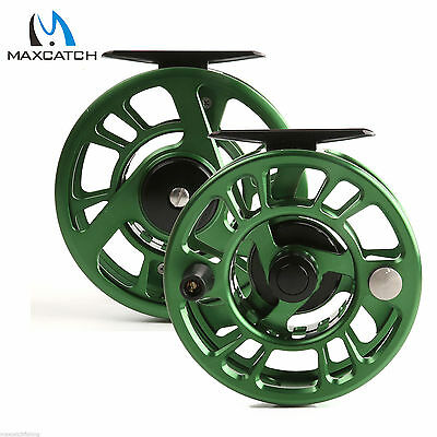 Maxcatch 3/4WT Green CNC Machined Left-Right Hand Fly Fishing Reel & Reel Bag