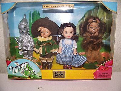 BARBIE KELLY TOMMY IN THE WIZARD OF OZ SET of FOUR HTF