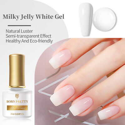6ml Nail Art UV Gel Polish Opal Jelly White Soak Off Varnish Decor BORN PRETTY