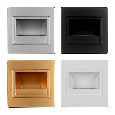 Fashion Led Footlight Square Wall Light Lamp For Stairs Step Corner Decor 1.5W