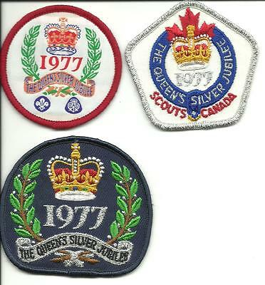 The Queens Silver Jubilee 1977 Scout Patches