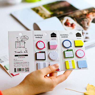 Schedule Maker Self-Adhesive Memo Pad Sticky Notes Bookmark School Office Tools