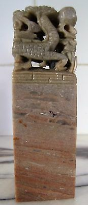 Chinese Traditional Carving Seal Sculpture Stone Soapstone Seal Art Craft