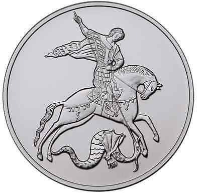 2015 RUSSIA 3 R RUBLE SILVER 1 OZ St. George The Victorious