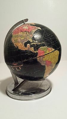 "Vintage Replogle 12"" Starlight Globe w/ black water on chrome stand"