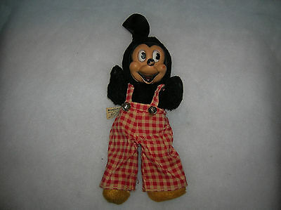 Vintage Mickey Mouse Plush Rubber face Gund Sani foam