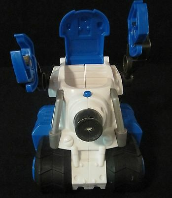Fisher Price Blue and White Police Car Vehicle Planet Heroes