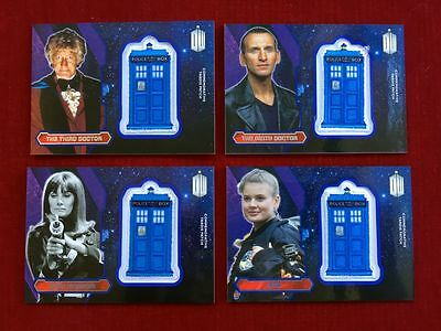 DOCTOR WHO 2015 Topps Commemorative TARDIS Patch (4) Card Lot