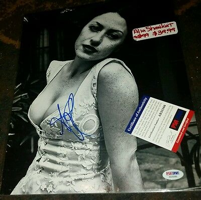 ALIA SHAWKAT Signed 11x14 Photo PSA DNA SEXY