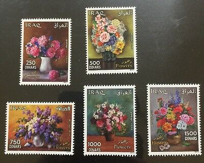 Iraq 2016 New Flower Stamp Set Fauna Flora MNH