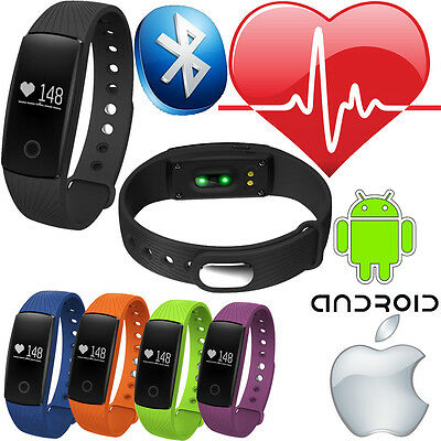 Heart Rate Activity Tracker Bluetooth Wristband Fitbit Style Watch Phone Big Lcd