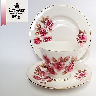 Duchess Tea Cup Set - Amber Style Cup - Pink Roses