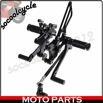 Rearsets Foot pegs Footrests For APRILIA RSV 1000 R FACTORY 04 05 06 07 08 CNC