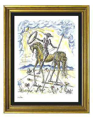 """Salvador Dali Signed & Hand-Numbered Limited Edition """"Don Quixote"""" Litho Print"""