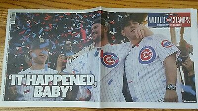 Cubs World Series Victory Chicago Sun Times Newspaper Nov. 5, 2016 Full Paper