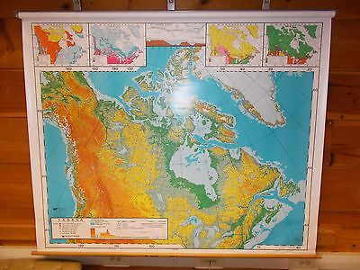 1992 Canada Map (dual maps) - Nystrom Map No. 15R-11-20 - Pull-down map [#2]