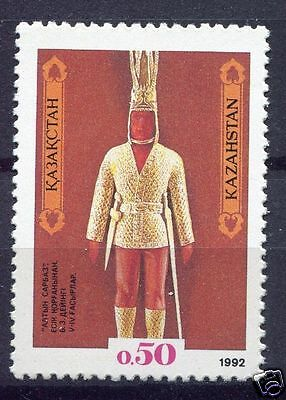 Kazakhstan -1992 - Sc-1-  Golden-Man - stamp  mnh