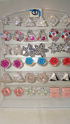 Joblot of 18Pairs Mixed Design Sparkly Diamante stud Earrings-NEW Wholesale lot3