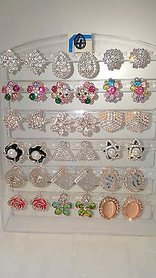 Joblot of 18Pairs Mixed Design Sparkly Diamante stud Earrings-NEW Wholesale lot4