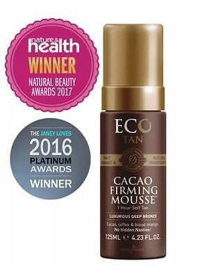 New ECO TAN Organic Cacao Firming Mousse Natural Beauty Awards Best Self Tanner