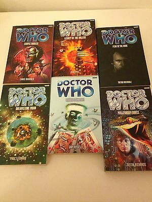 Dr Who Paperback Books- A Selection -One Lot- 6 Books