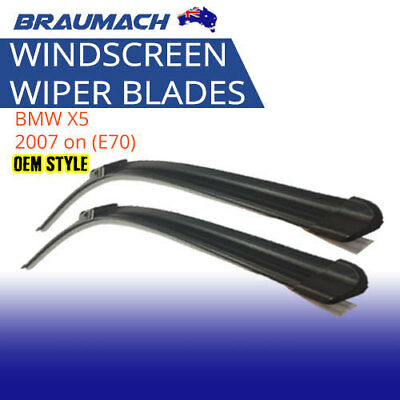 Wiper Blades Suit BMW X5 2007 on (E70) - Aero Design (PAIR) Braumach