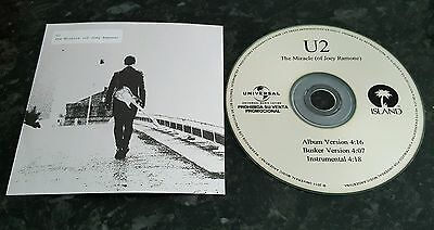 U2 Mega Rare Official 2014  Promo Cd Argentina  The Miracle (Of Joey Ramone))