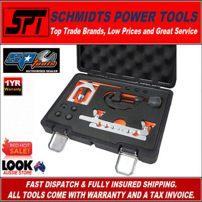 SP TOOLS SP63016 SAE DOUBLE PIPE FLARING TOOL KIT With PIPE CUTTER AND CASE