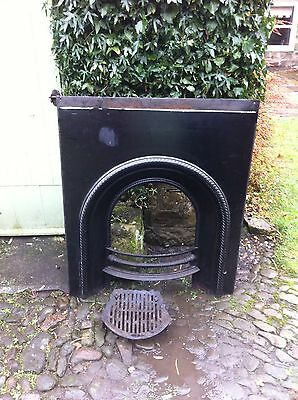 Cast Iron Victorian Fireplace Antique