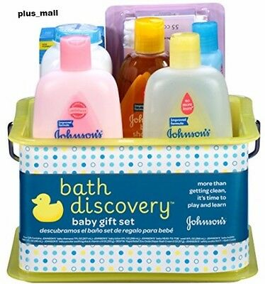Bathtime Essentials Baby Care Gift Set Johnson Baby Products Lotion Powder Wash