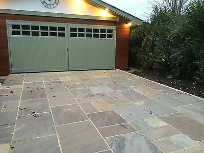 Autumn Brown Indian Sandstone Paving - Natural Stone Patio Flags - Garden Slabs
