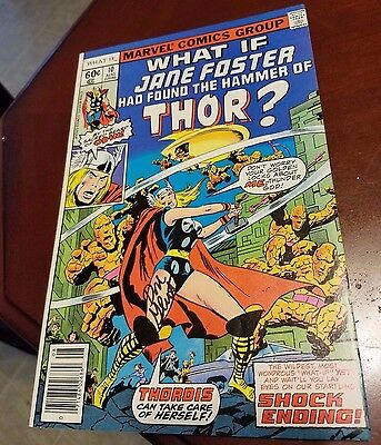 What If #10 1st Jane Foster  Lady Thor,  HOT! signed Don Glut 9.2 to 9.4  NM