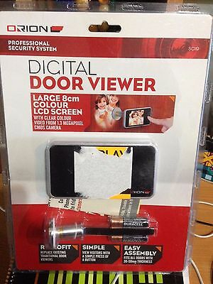 Orion Proffessional Security Digital Door Viewer Large 8cm LCD Screen Camer