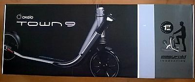 GENUINE OXELO Town 9 Easy Fold Adult Town Scooter-Titanium NEW