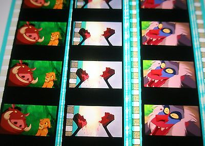 Disney's - The Lion King -  Rare Unmounted 35mm Film Cells - 5 Strips