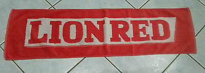 NZ beer Lion Red bar runner towel good Used condition 100% Cotton towelling