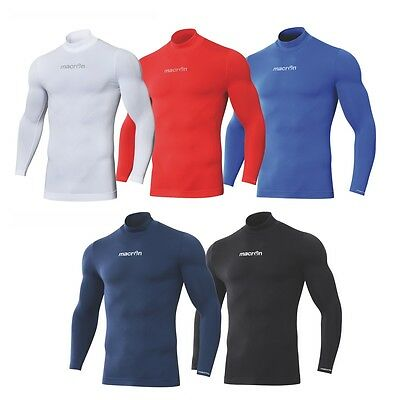 Maglia Termica Sottomaglia Macron Performance Lupetto Turtle Neck Compression