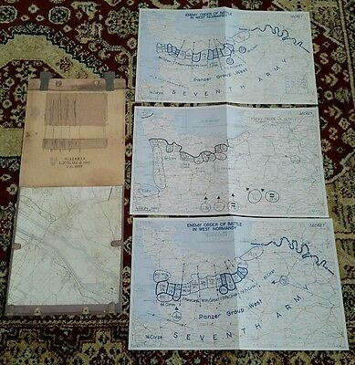 Copy of WW2 Series of SHAEF maps showing enemy order of battle after St-lo .