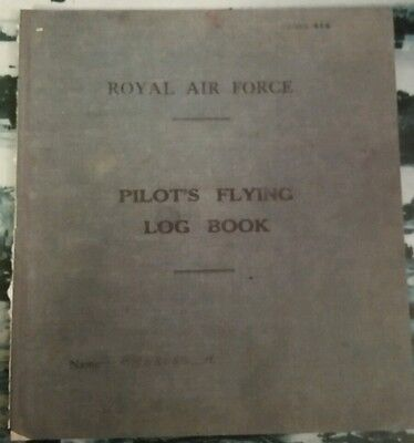 Copy of WW2 Pilots Flying Logbook Henry Poppa Ambrose 175 Squadron