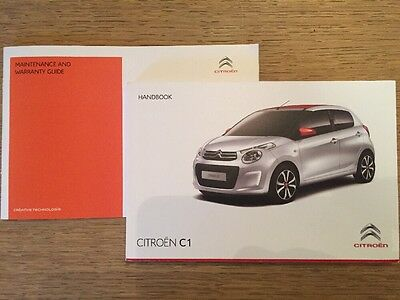 Citroen C1 Car Owner Handbook Manual & New Servicebook Genuine