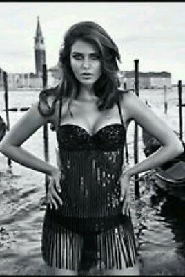 Intimissimi Sottoveste Body Lingerie Paillettes  Pizzo Nero  Tg S Babydoll
