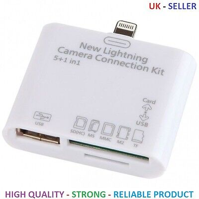 New Lightning Camera Connection Kit - 5-In-1 Sd Usb Card For Ipad