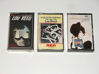 Lou Reed - 3 MCs - Cassettes - Coney Island Baby - Walk On The Wild Side