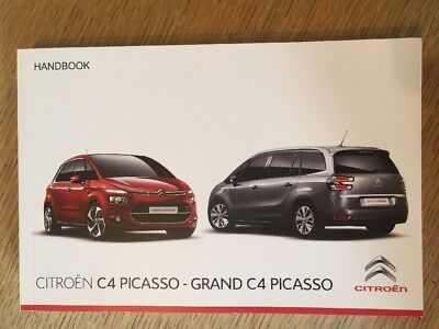 Genuine Citroen C4 Picasso & Grand Picasso Handbook Manual