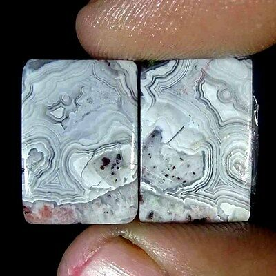 24.00Cts 100% NATURAL DESIGNER CRAZY LACE OCTAGON PAIR CABOCHON NICE GEMSTONE