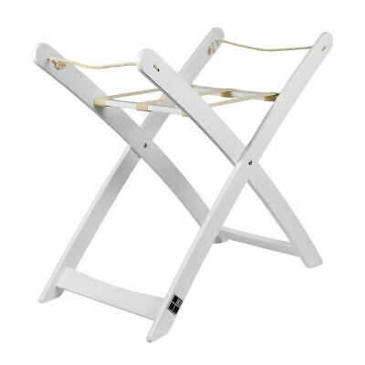BebeCare Moses Basket Stand (White) Light and easy to fold