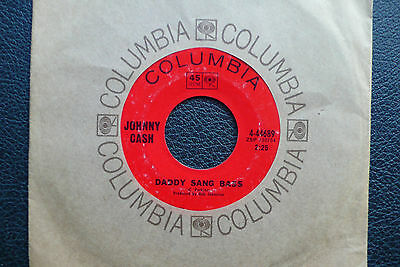 "7"" Johnny Cash - Daddy Sang Bass - US Columbia"
