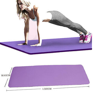 10MM Yoga Mat Exercise Thick Non-slip Gym Fitness Durable Pilates Meditation Pad