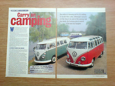 1997 article of 6 pages on buyer`s guide, volkswagen campers